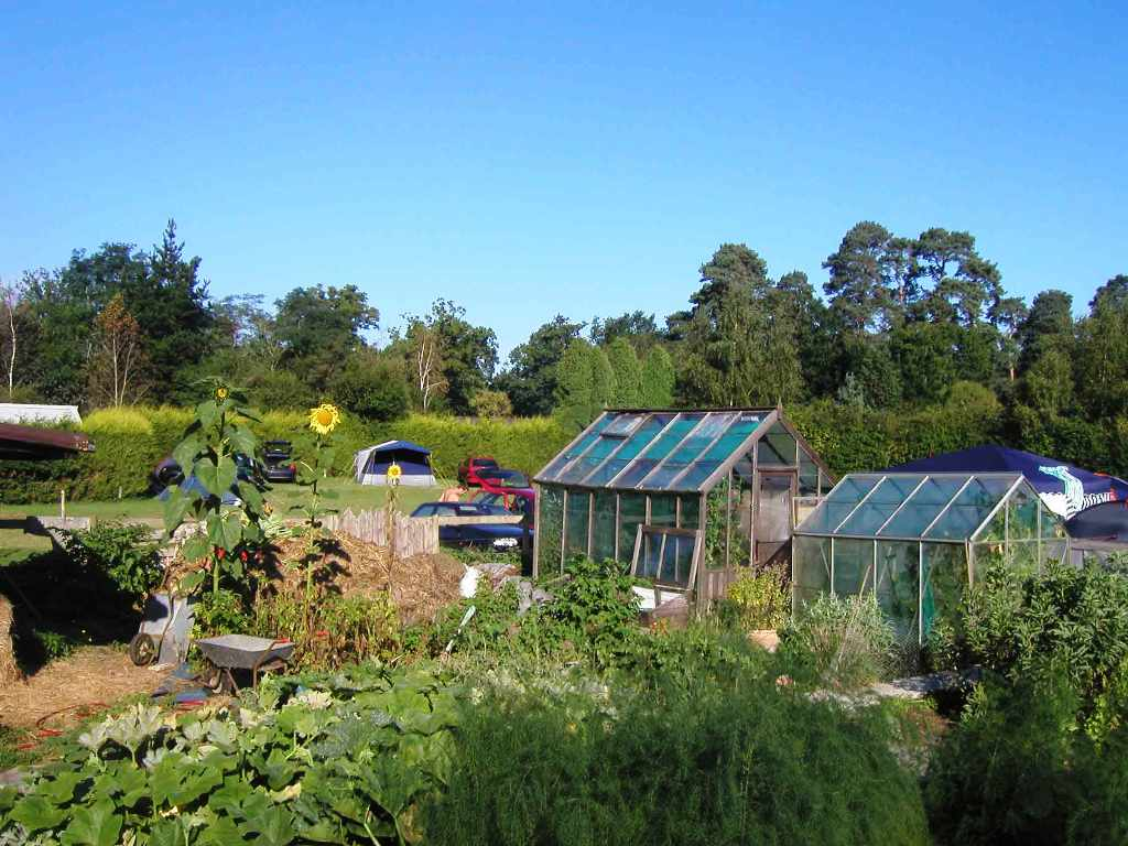 The Campsite viewed from the vegetable plot