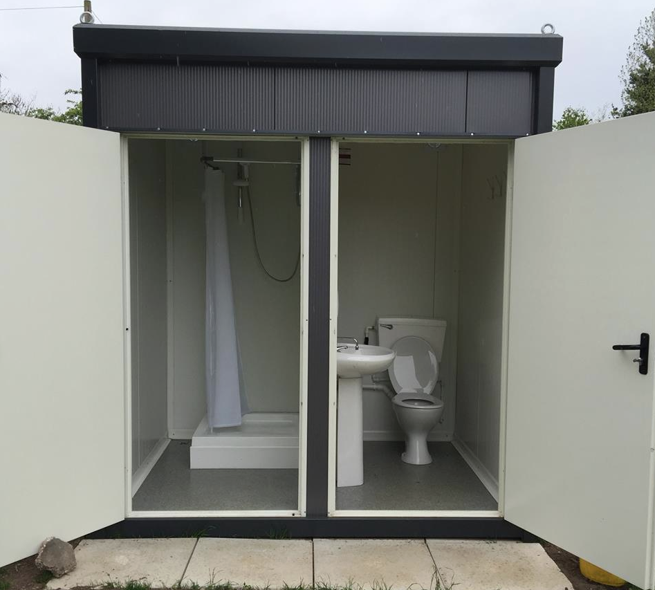 New ladies toilet and unisex shower